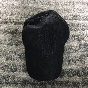 Accessories - Black Lace Baseball Hat